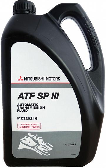mitsubishi Трансмиссионное масло MITSUBISHI ATF SP-III ( 4л) MZ320216