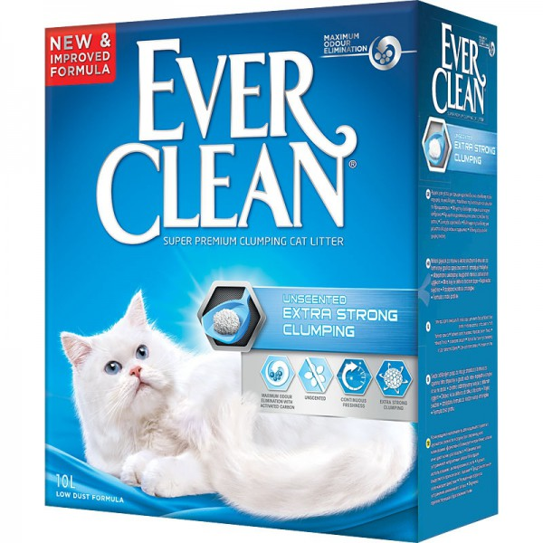 ever clean Ever Clean Extra Strength Unscented Комкующийся наполнитель без аромата, 10кг 26253