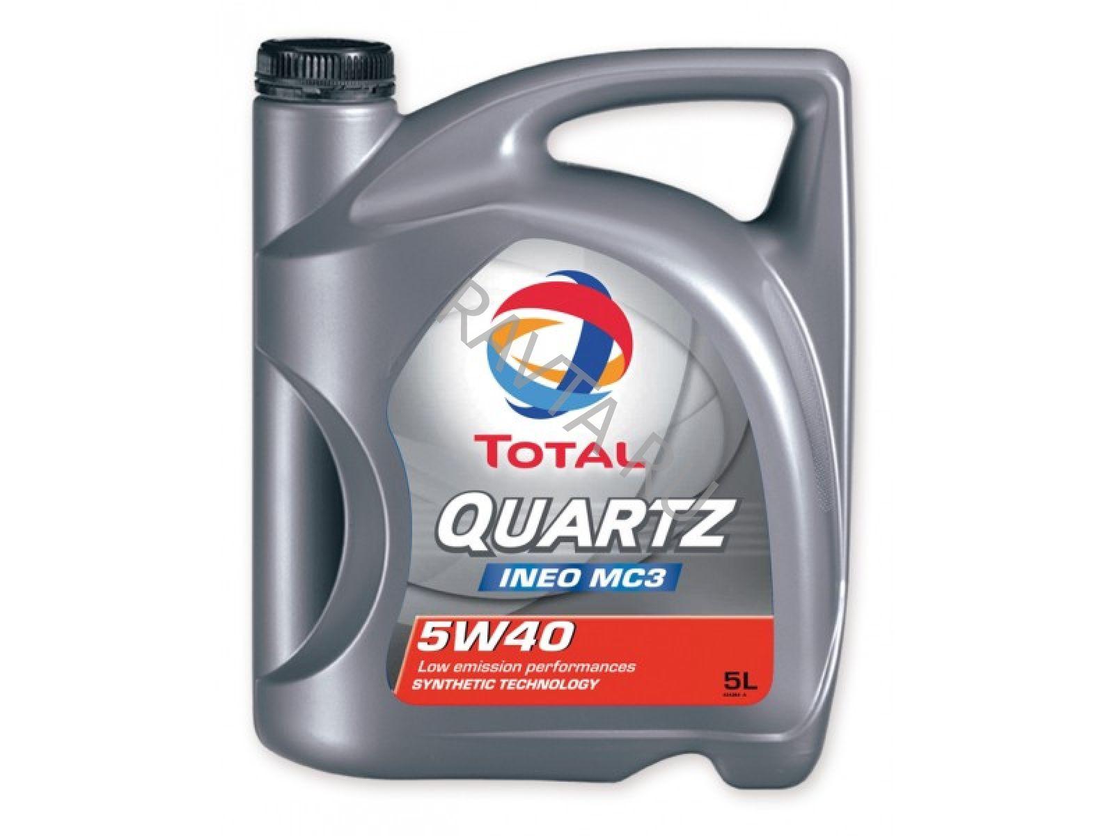 Масло Total Quartz Ineo MC3 5W-40 (5л) от Ravta