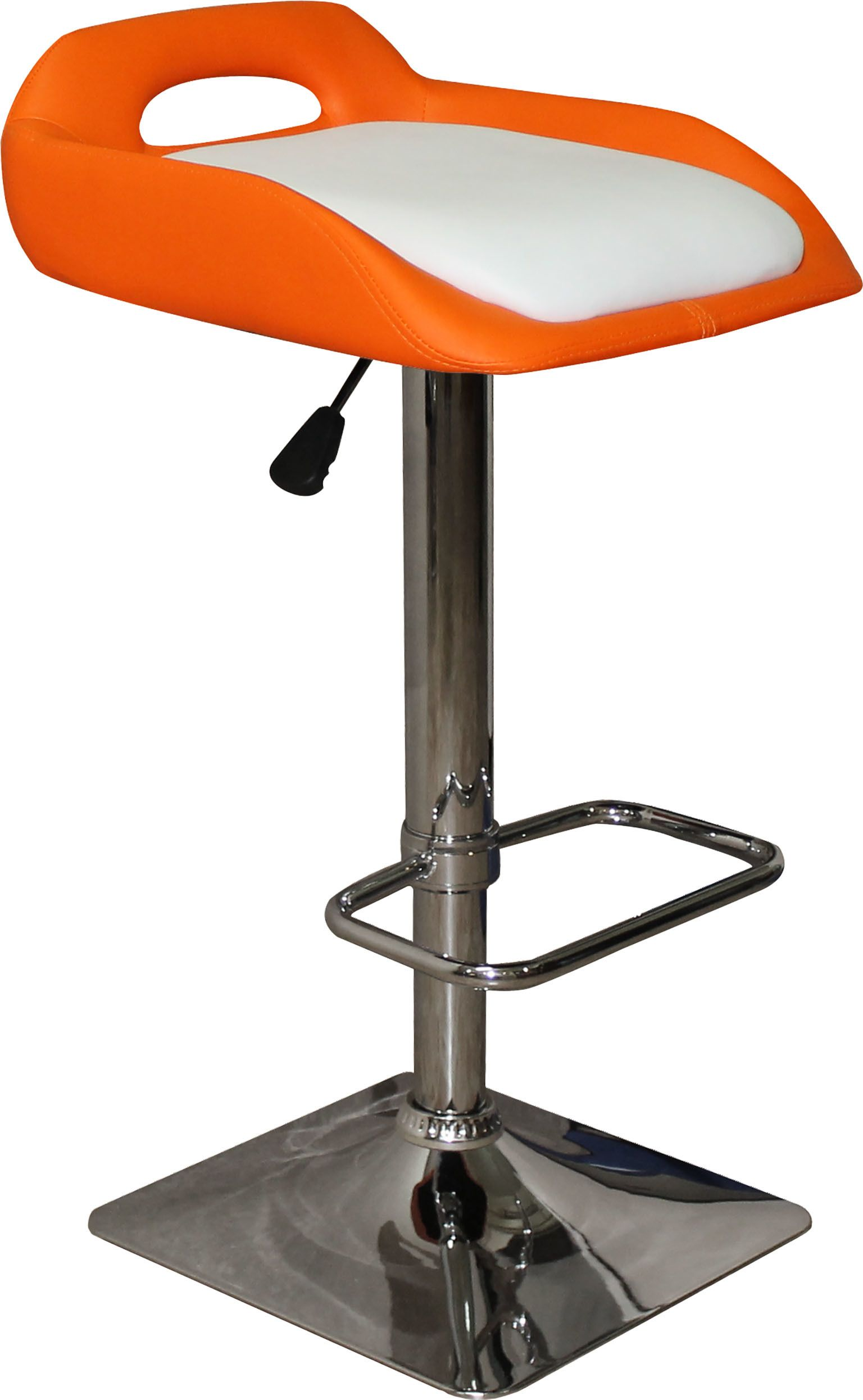 Барный стул с пуфиком (арт.ET 9190-2) оранжевыйМебель для дома<br><br><br>Артикул: ET 9190-2<br>Бренд: Ravta<br>Цвет: оранжевый<br>Вид мебели: Барный стул<br>Каркас мебели: гальваника<br>Тип материала мебели: кожзам