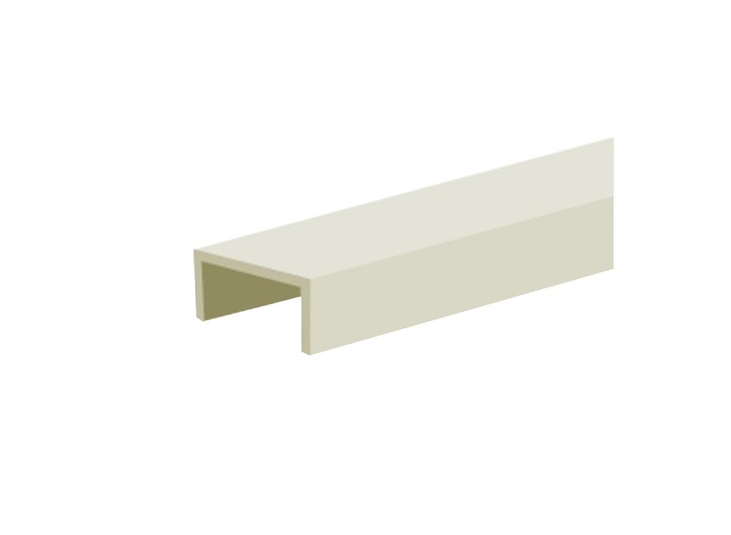 Профиль алюминиевый decor С для дверного полотна толщиной 16 мм, длиной 3000 мм, анодированный, цвет серебро от Ravta