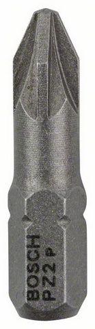 Бита BOSCH PZ-2 x 25 мм (100 шт), пакетБиты<br><br><br>Артикул: 2607001561<br>Бренд: Bosch<br>Родина бренда: Германия