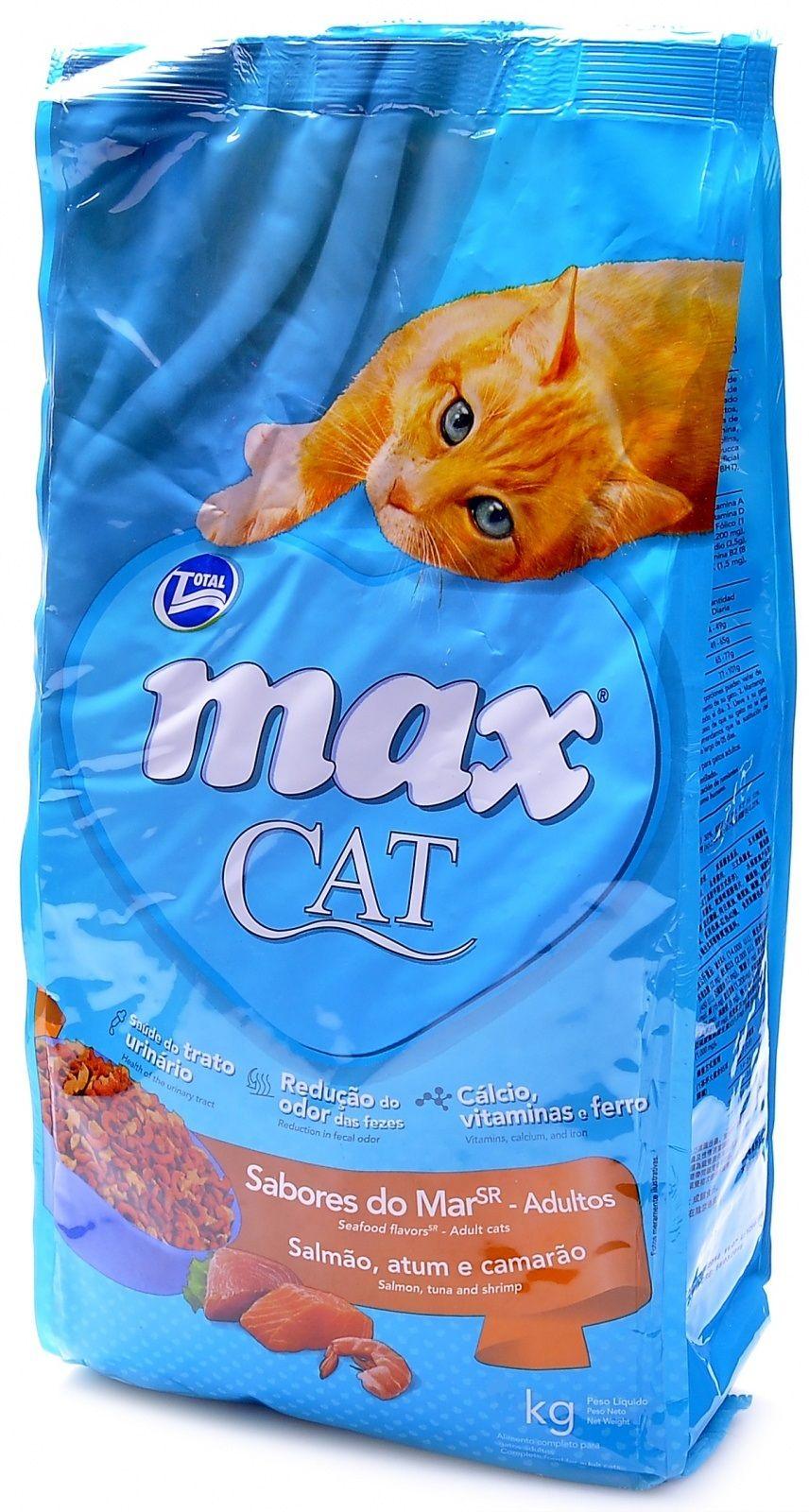Корм Total Max для кошек с морепродуктами (Max Cat Sea Food Flavors SR), 20кгПовседневные корма<br><br><br>Артикул: 24569<br>Бренд: Total Max<br>Вид: Сухие<br>Вес брутто (кг): 20<br>Страна-изготовитель: Бразилия<br>Вес упаковки (кг): 20<br>Ингредиенты: Кура<br>Для кого: Кошки