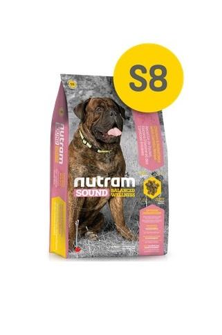 Корм Nutram S8 Large breed Adult DOG WB, для взрослых собак крупных пород (белый пакет), 20кг от Ravta