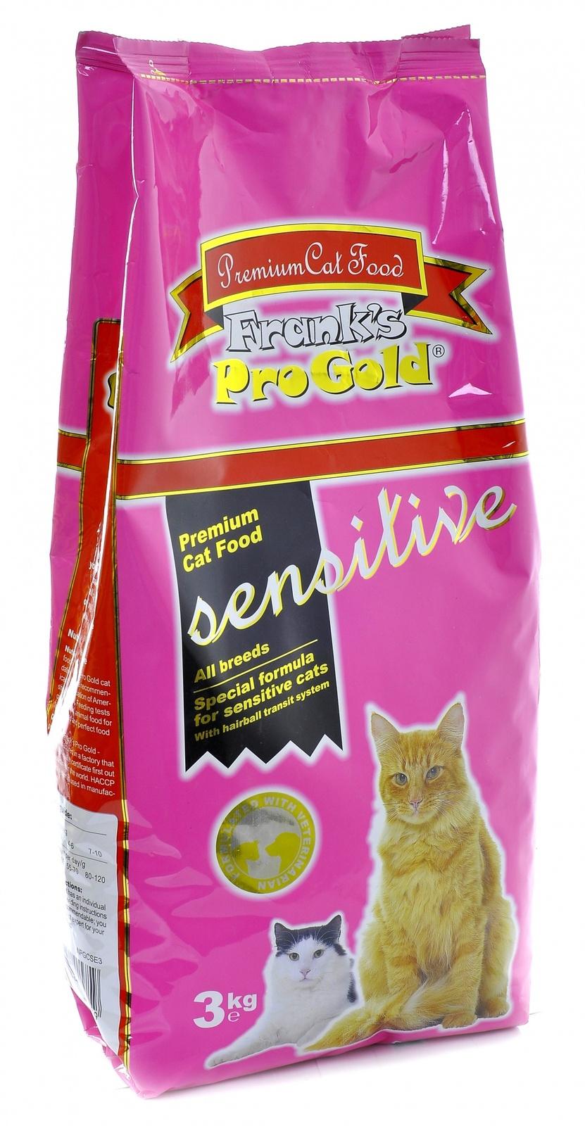Franks ProGold Для чувствительных кошек Ягненок по-голландски (Sensitive 32/18) 3кгПовседневные корма<br><br><br>Артикул: 23298<br>Бренд: Franks ProGold<br>Вид: Сухие<br>Для кого: Кошки