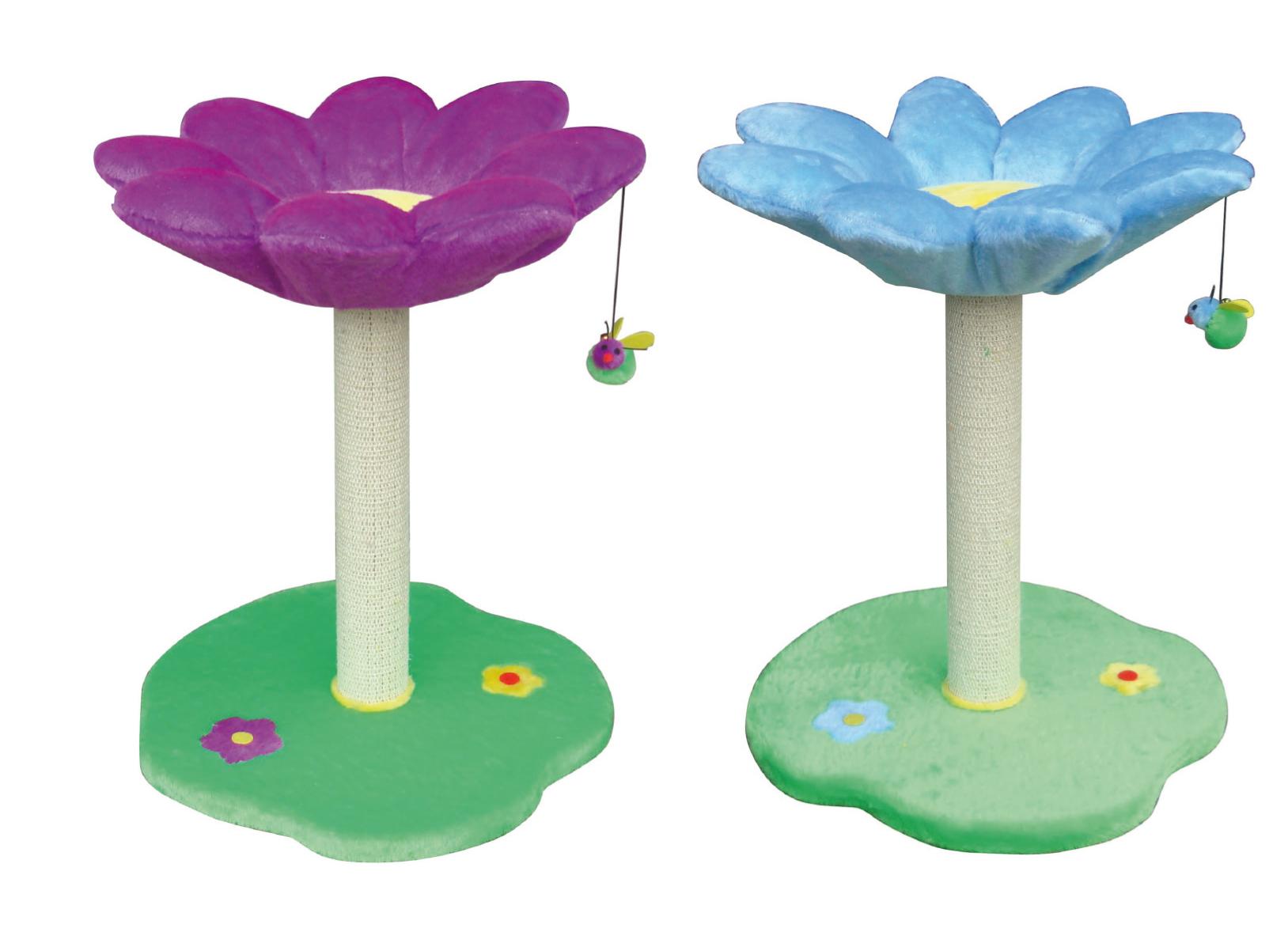 """Когтеточка-столбик с полочкой """"Цветок"""", 45*45*59 см, в ассорт. от Ravta"""