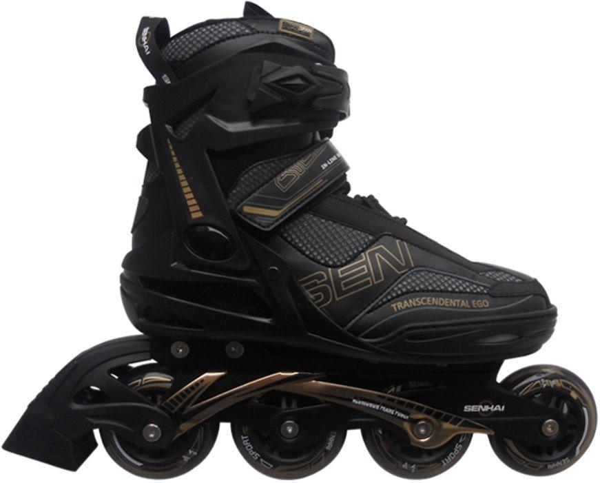 Роликовые коньки Senhai  PW-150G р.46 ЧерныеРоликовые коньки<br><br><br>Артикул: 00019640<br>Бренд: Senhai<br>Вид: роликовые коньки