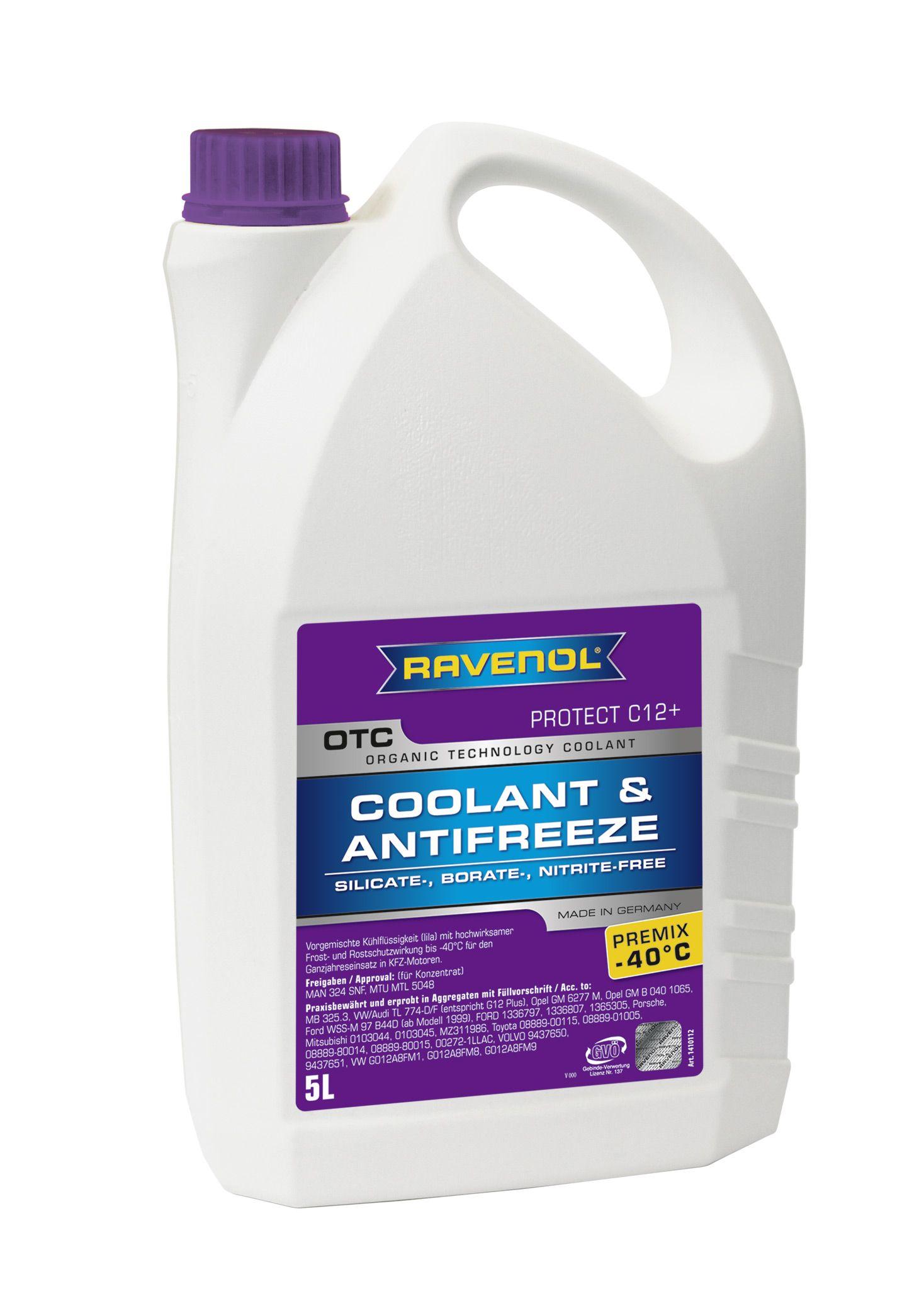 Антифриз Ravenol лиловый OTC Organic Techn.Coolant Premix -40°C ( 5л) от Ravta