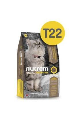 Корм Nutram T22 GF Turkey, Chicken & Duck Cat Food, беззерновой для кошек из мяса индейки, курицы и утки, 6,8кг от Ravta