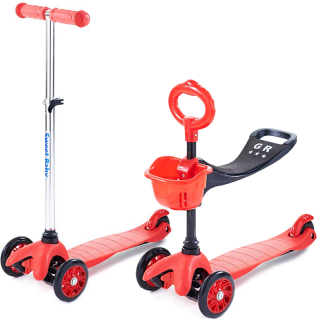 Самокат 3-х колесный Sweet Baby Triplex Seat RedСамокаты детские<br><br><br>Артикул: 314 074<br>Бренд: Sweet Baby<br>Родина бренда: Китай