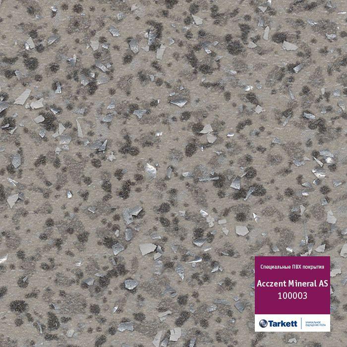 Линолеум коммерческий Tarkett Acczent Mineral AS 100003 3мЛинолеум<br><br><br>Бренд: Tarkett<br>Мин. количество для заказа: 5<br>Страна-изготовитель: Россия<br>Толщина (мм): 2<br>Цена указана за: м2<br>Единица измерения: м2<br>Ширина (м): 3<br>Защитный слой (мм): 0,7<br>Назначение линолеума: Коммерческий гетерогенный<br>Класс применения: 34/43<br>Вес 1м2 (кг): 2,85<br>Коллекция линолеума: Acczent Mineral AS