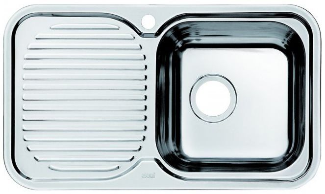 Мойка для кухни Iddis Strit (арт.STR76PRi77) нержавеющая стальMойки<br><br><br>Артикул: STR76PRi77<br>Бренд: IDDIS<br>Гарантия производителя: да<br>Глубина чаши (мм): 180<br>Страна-изготовитель: Россия<br>Срок гарантии (мес.): 180<br>Поверхность мойки: полированная<br>Форма мойки: Чаша справа<br>Материал мойки: нержавеющая сталь<br>Коллекция мойки: Strit<br>Число основных чаш мойки: 1<br>Установка мойки: врезная