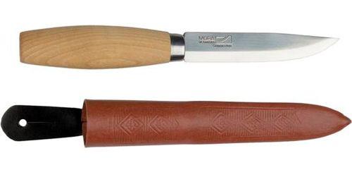 Нож Morakniv Classic N1, лезвие 99 мм, кожаные ножныНескладные ножи<br><br><br>Артикул: 11934<br>Бренд: Mora of Sweden<br>Страна-изготовитель: Швеция<br>Материал клинка: углеродистая сталь<br>Длина лезвия ножа (мм): 100<br>Толщина лезвия (мм): 2<br>Вес (г): 180