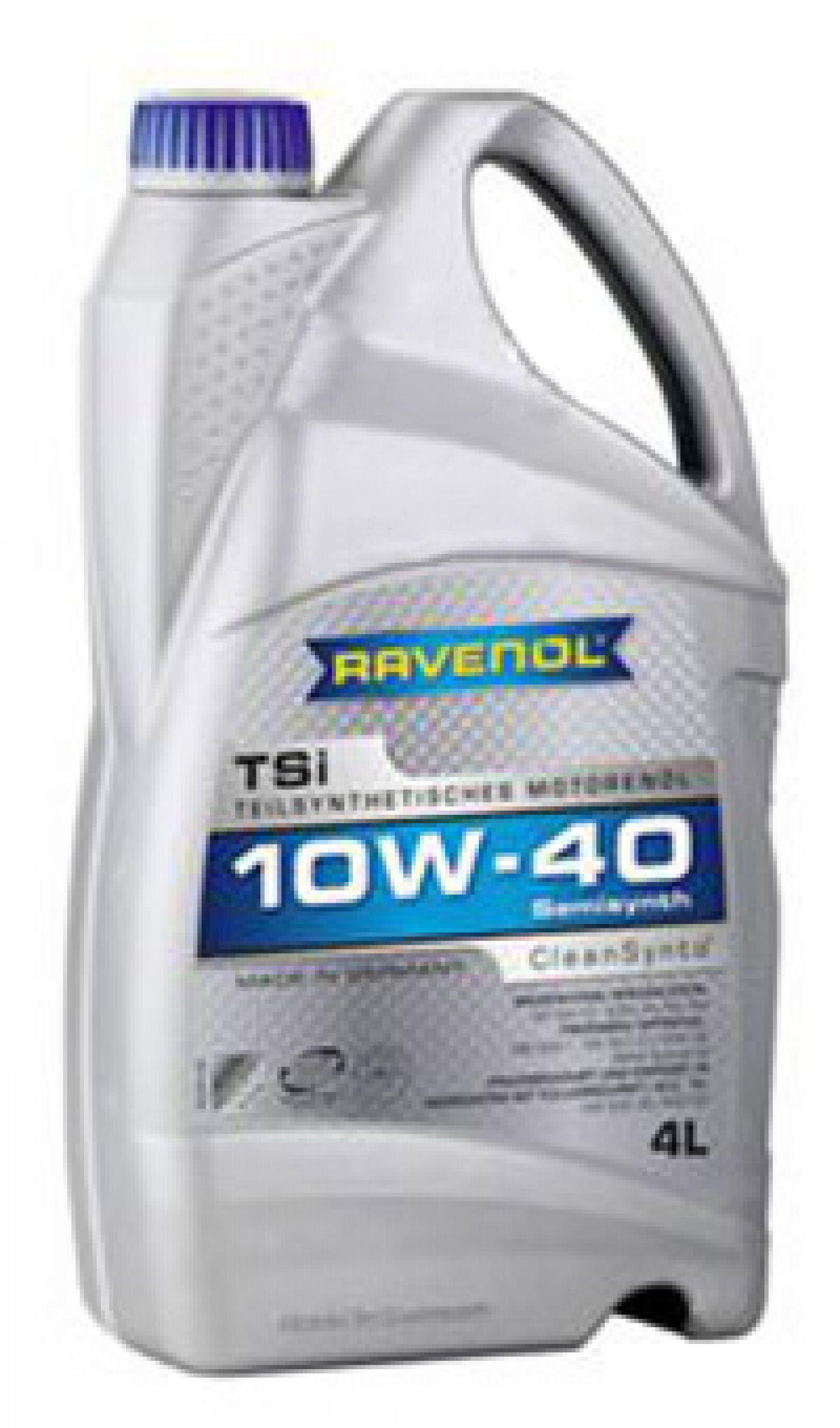 Масло Ravenol TSI 10W-40 (4л)Ravenol<br><br><br>Артикул: 4014835724198<br>Тип масла: Моторное<br>Состав масла: полусинтетическое<br>ACEA: A3/B3/B4<br>Допуски/cпецификации: BMW Spezialoel,MB 229.1,VW 500.00,VW 501.01,VW 502.00,VW 505.00<br>Вязкость по SAE: 10W-40<br>API: CF,SM<br>Бренд: Ravenol<br>Объем (л): 4<br>Параметры для таблицы: Характеристика :: Ед.изм. :: Значение :: Метод<br>Параметры для таблицы: Вязкость при 100°C :: мм?/с :: 14 :: DIN 51562<br>Параметры для таблицы: Вязкость при 40°C :: мм?/с :: 91,3 :: DIN 51562<br>Параметры для таблицы: Индекс вязкости :: - :: 157 :: DIN ISO 2909<br>Параметры для таблицы: Общее щелочное число :: мг КОН/г :: 7 :: DIN ISO 3771<br>Параметры для таблицы: Плотность при 20°C :: кг/м? :: 868 :: DIN EN ISO 12185<br>Параметры для таблицы: Сульфатная зольность :: % :: 1,5 :: DIN 51575<br>Параметры для таблицы: Температура вспышки :: °C :: 210 :: DIN ISO 2592<br>Параметры для таблицы: Температура потери текучести :: °C :: -35 :: DIN ISO 3016<br>Параметры для таблицы: Цвет :: - :: жёлто-коричневый :: -<br>Применение масла: легковые автомобили и лёгкие грузовики<br>Объем (л): 4