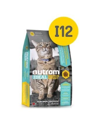 Корм Nutram I12 weight control Cat WB, для кошек контроль веса (белый пакет), 20кг от Ravta