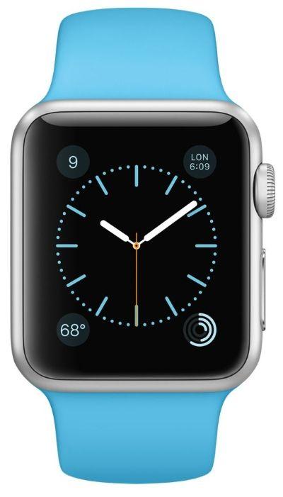 Умные часы Apple Watch Sport  38mm Silver Aluminum Case with Blue Sport Band (MJ2V2) от Ravta