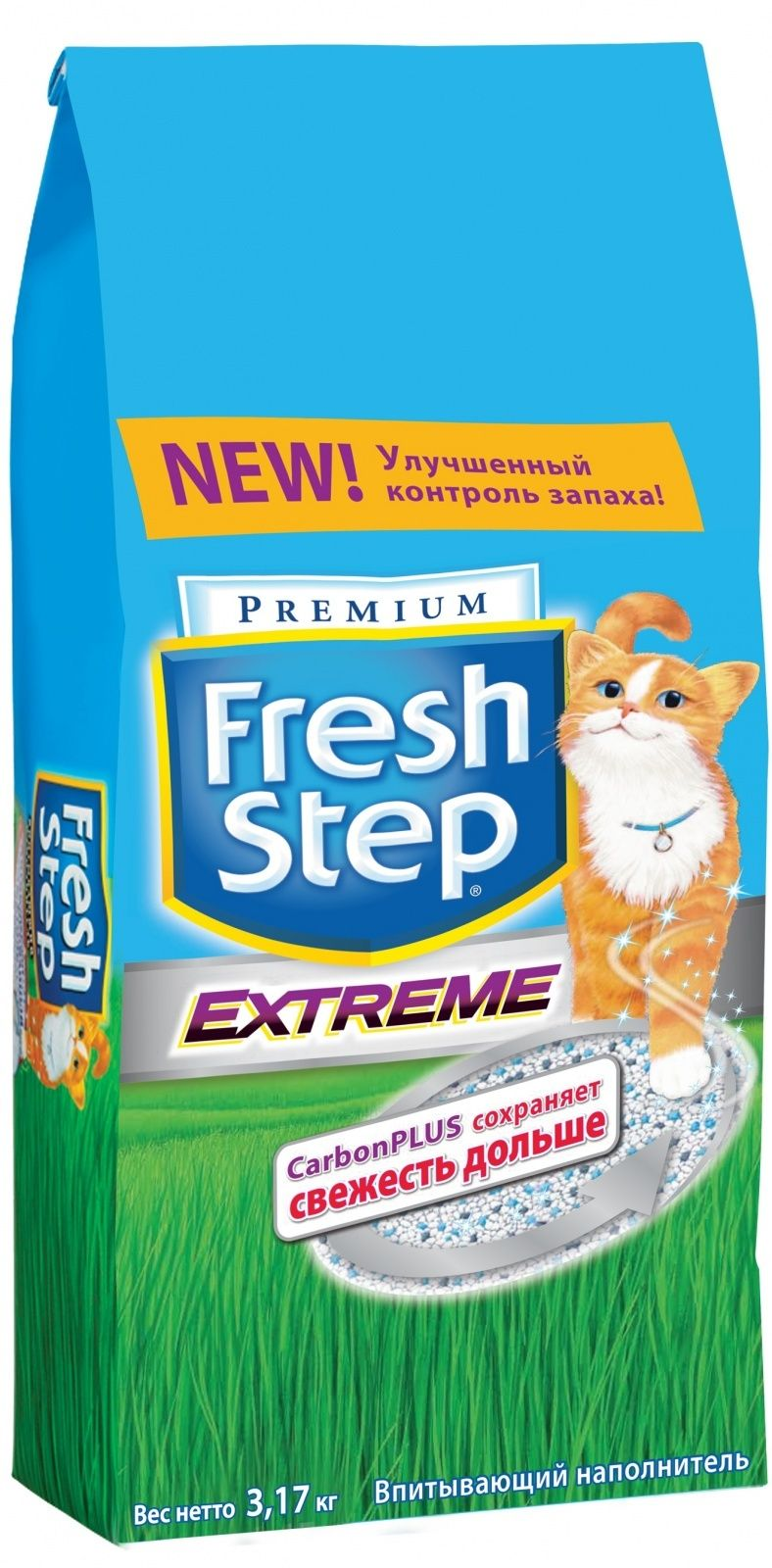 fresh step Fresh Step Впитывающий наполнитель Тройная защита 3,17кг 26092
