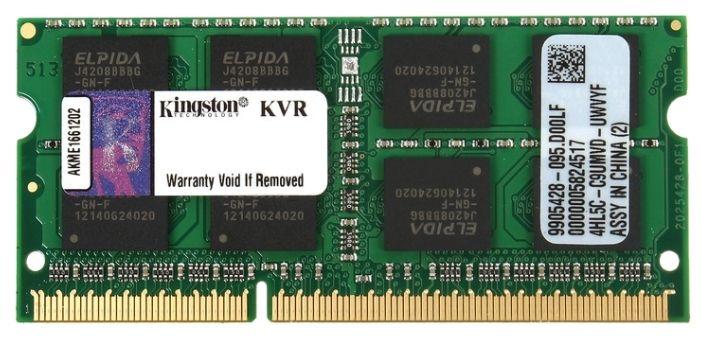Оперативная память Kingston 8Gb DDR3 SO-DIMM (PC3-12800, 1600, CL11) (KVR16S11/8) от Ravta