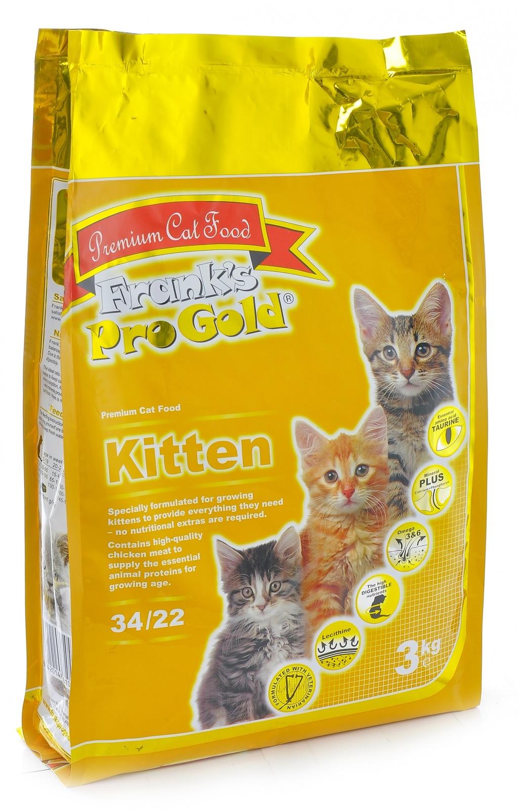Franks ProGold Для котят: Курица (Kitten 34/22) 7,5кгПовседневные корма<br><br><br>Артикул: 23290<br>Бренд: Franks ProGold<br>Вид: Сухие<br>Для кого: Кошки