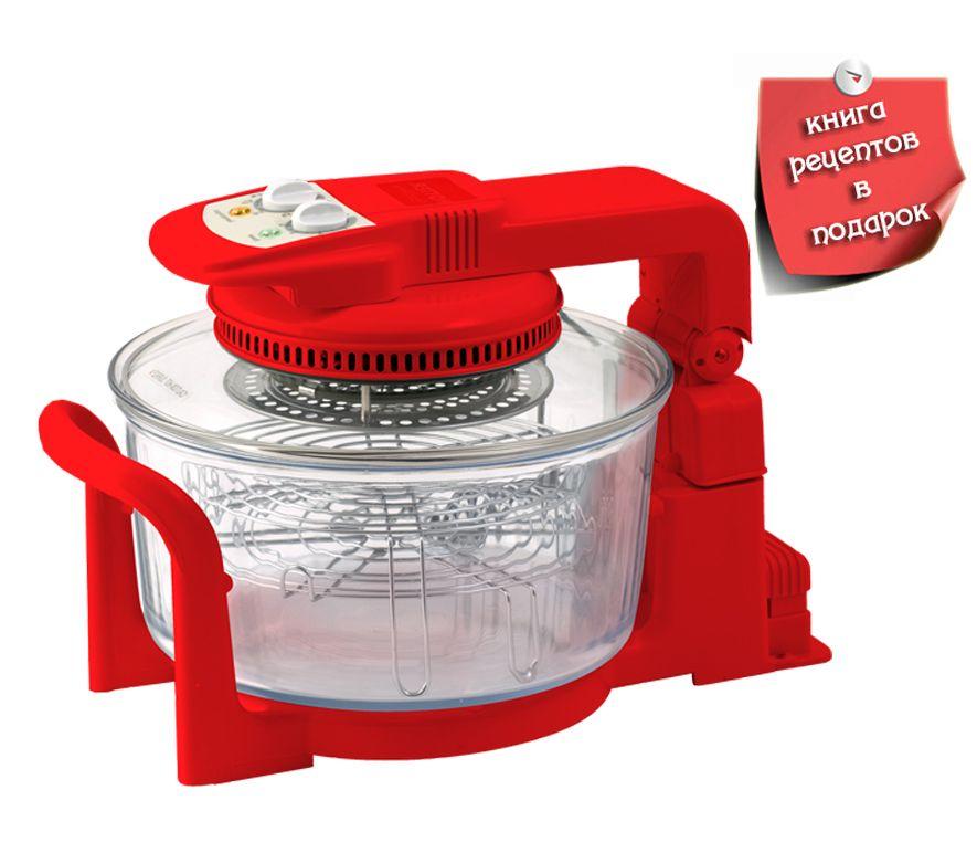 Аэрогриль HOTTER HX-1047 UNIVERSAL (красный)Аэрогрили<br>Книга рецептов для аэрогрилей в подарок!<br><br>Бренд: HOTTER<br>Высота упаковки (мм): 360<br>Длина упаковки (мм): 435<br>Ширина упаковки (мм): 435<br>Гарантия производителя: да<br>Тип нагревательного элемента: ТЭН<br>Вес упаковки (кг): 10,000<br>Тип управления: механическое<br>Мощность (Вт): 1300<br>Объем колбы (л): 10<br>Количество автоматических программ: 10<br>Тип крышки: На кронштейне<br>Регулировка скорости конвекции: Да<br>Поддержание тепла: Нет