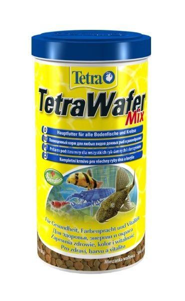 Корм основной с креветкой для плотоядных, травоядных  донных рыб Tetra Wafer Mix таблетки 1000 млКорма для рыб<br><br><br>Артикул: 204256<br>Бренд: Tetra<br>Вид: Таблетки<br>Страна-изготовитель: Германия<br>Для кого: Донные рыбы<br>Серия_: Tetra Wafer<br>Назначение: Плотоядные рыбы<br>Фасовка: 1000мл