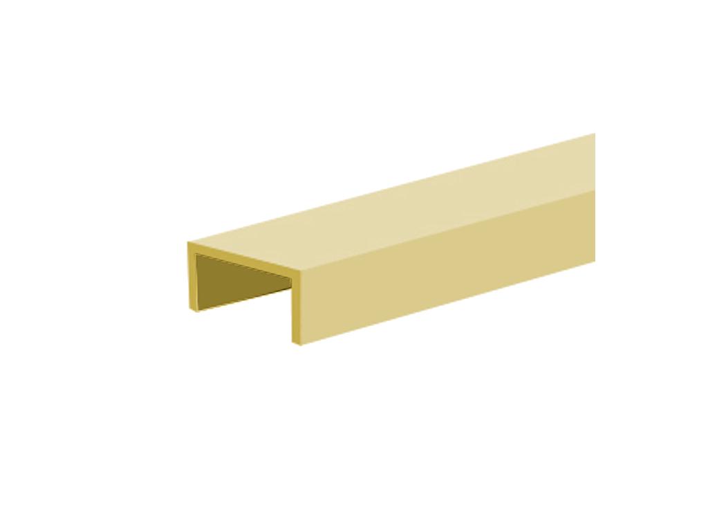Профиль алюминиевый decor С для дверного полотна толщиной 16 мм, длиной 3000 мм, анодированный, цвет золото от Ravta
