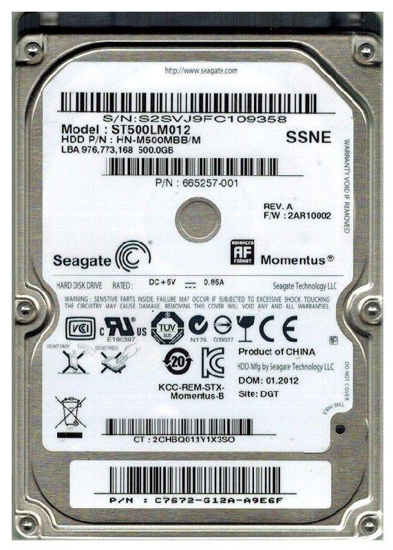 "Жесткий диск Seagate Original SATA 500Gb ST500LM012 (5400rpm) 8Mb 2.5"" Samsung от Ravta"