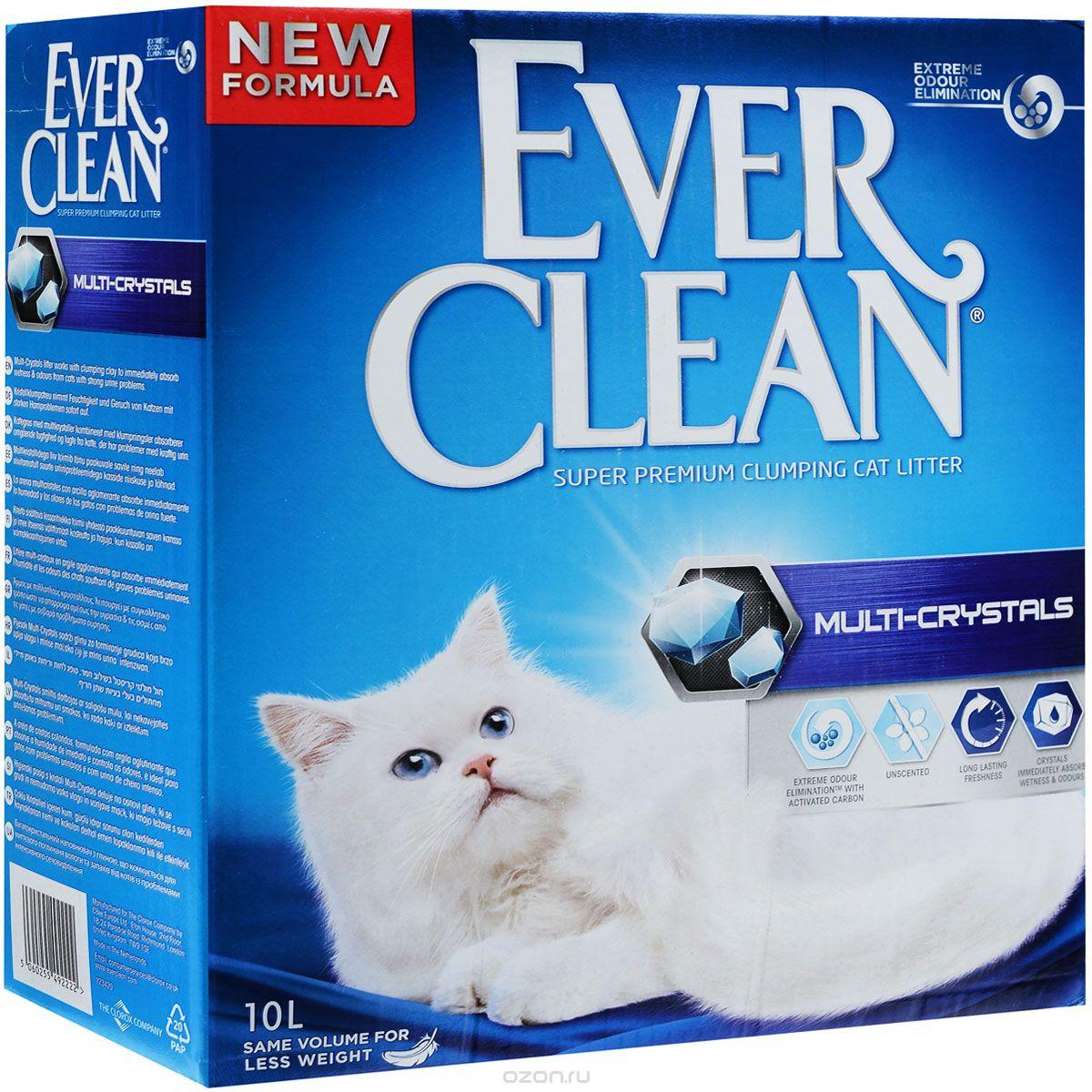 ever clean Ever Clean Multi Crystals Blend Комкующ. наполнитель с силикагелем 10кг 26257