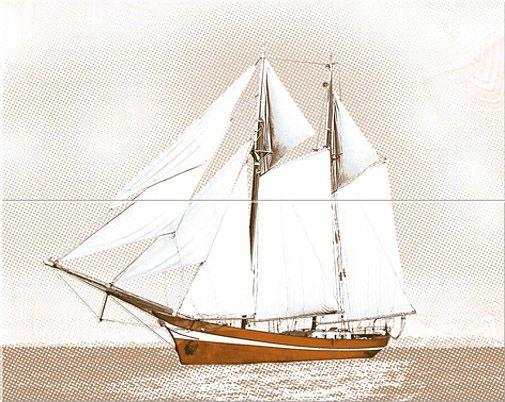Керамическая плитка панно Azori Agat Atlantic Beige бежевый 505*201 (2шт.) от Ravta