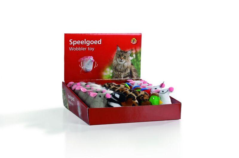 """Игрушки для кошек """"Неваляшка"""" плюшевая 7,5см (шт) от Ravta"""