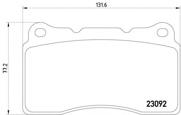 Тормозные колодки Textar передние дисковые комплект Mitsubishi Lancer IX [2309203] от Ravta