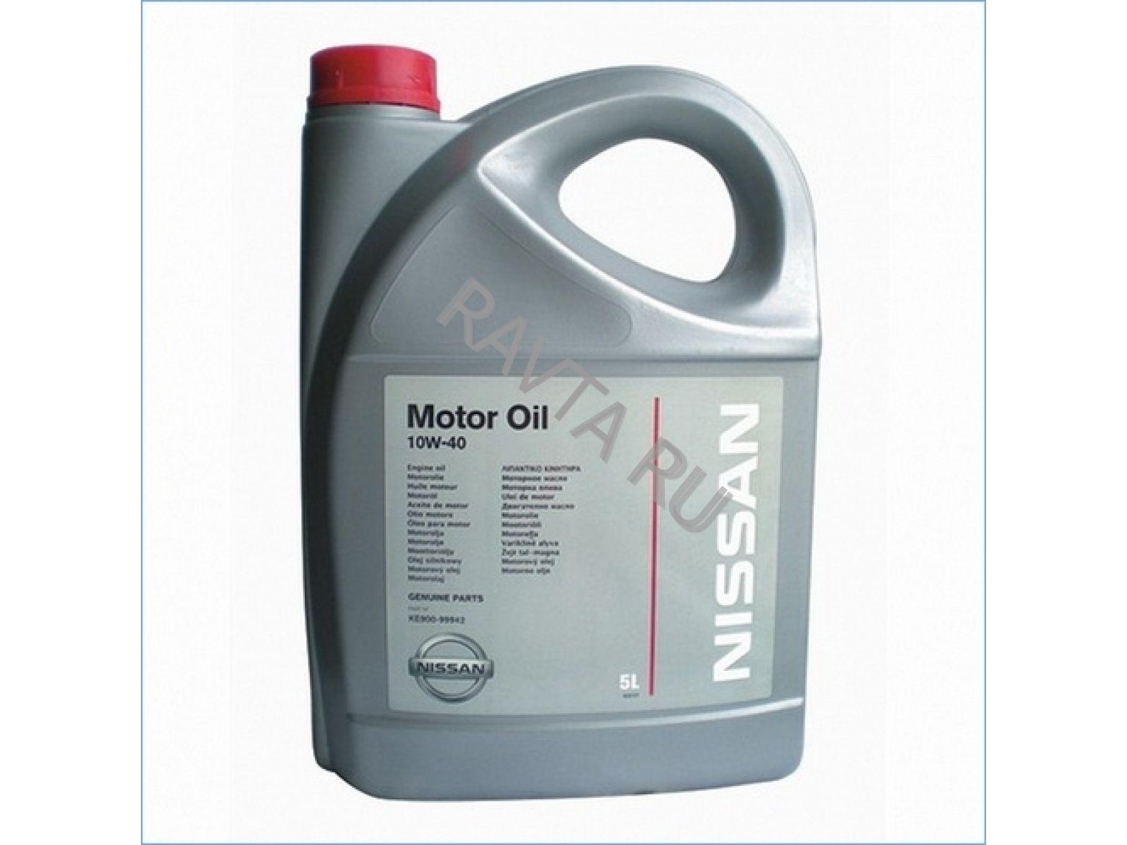 Масло Nissan Motor Oil 10W 40 (EU) (5л) от Ravta