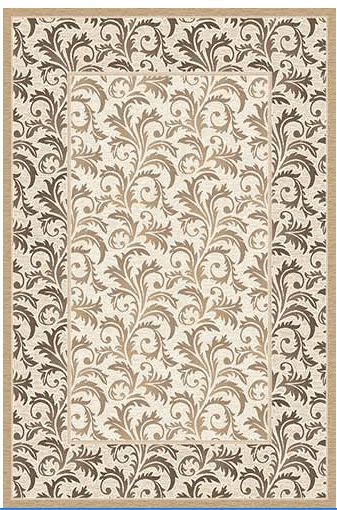 Ковер Merinos Valencia Deluxe (арт.d327, CREAM-BROWN) 1000*3000мм от Ravta