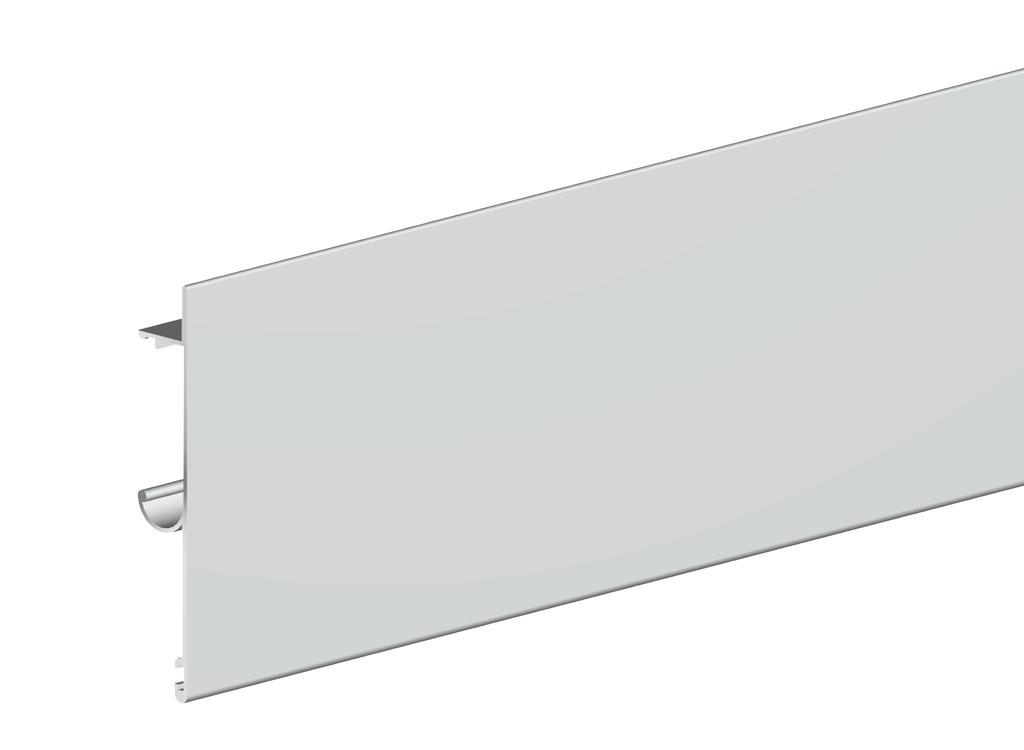 Планка маскировочная для направляющей Herkules длиной 2000 мм, цвет сереброСистемы для раздвижных и складывающихся дверей<br><br><br>Артикул: 2201042<br>Бренд: Valcomp<br>Страна-изготовитель: Польша