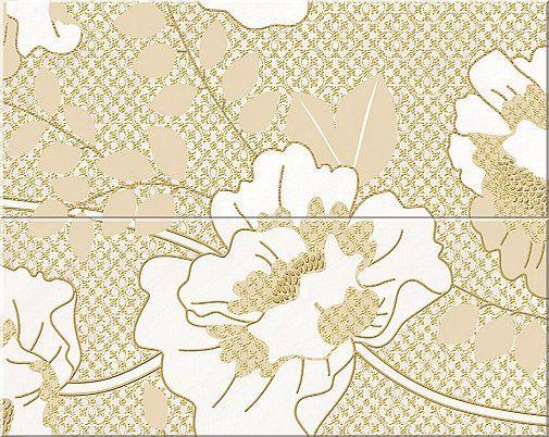 Керамическая плитка панно Azori Erato Vetro бежевый 505*201 (2шт.) от Ravta