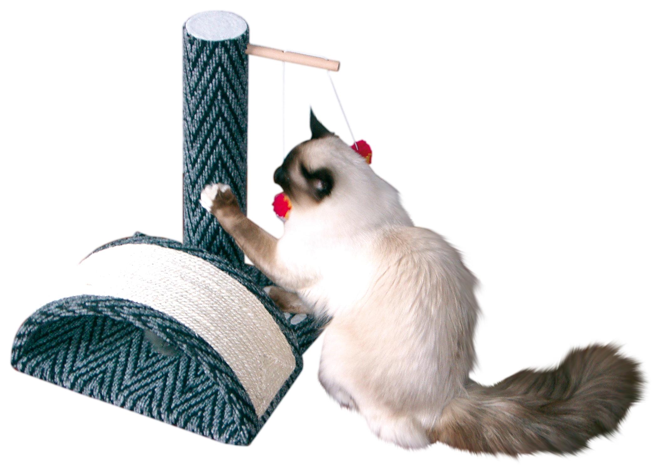 croci Когтеточка-столбик с мостиком Rocky, 35*35*47 см, серая C6020580