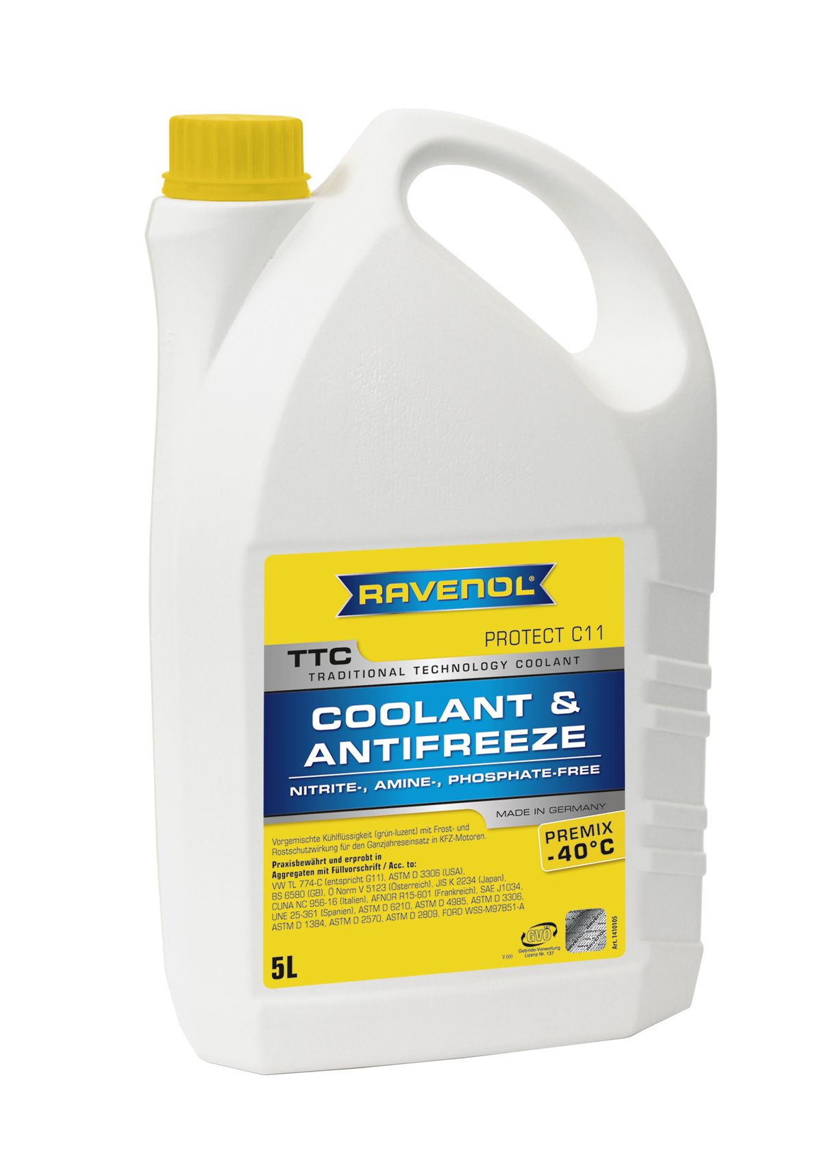 Антифриз Ravenol желтый TTC Traditional Technology Coolant Premix ( 5л) от Ravta