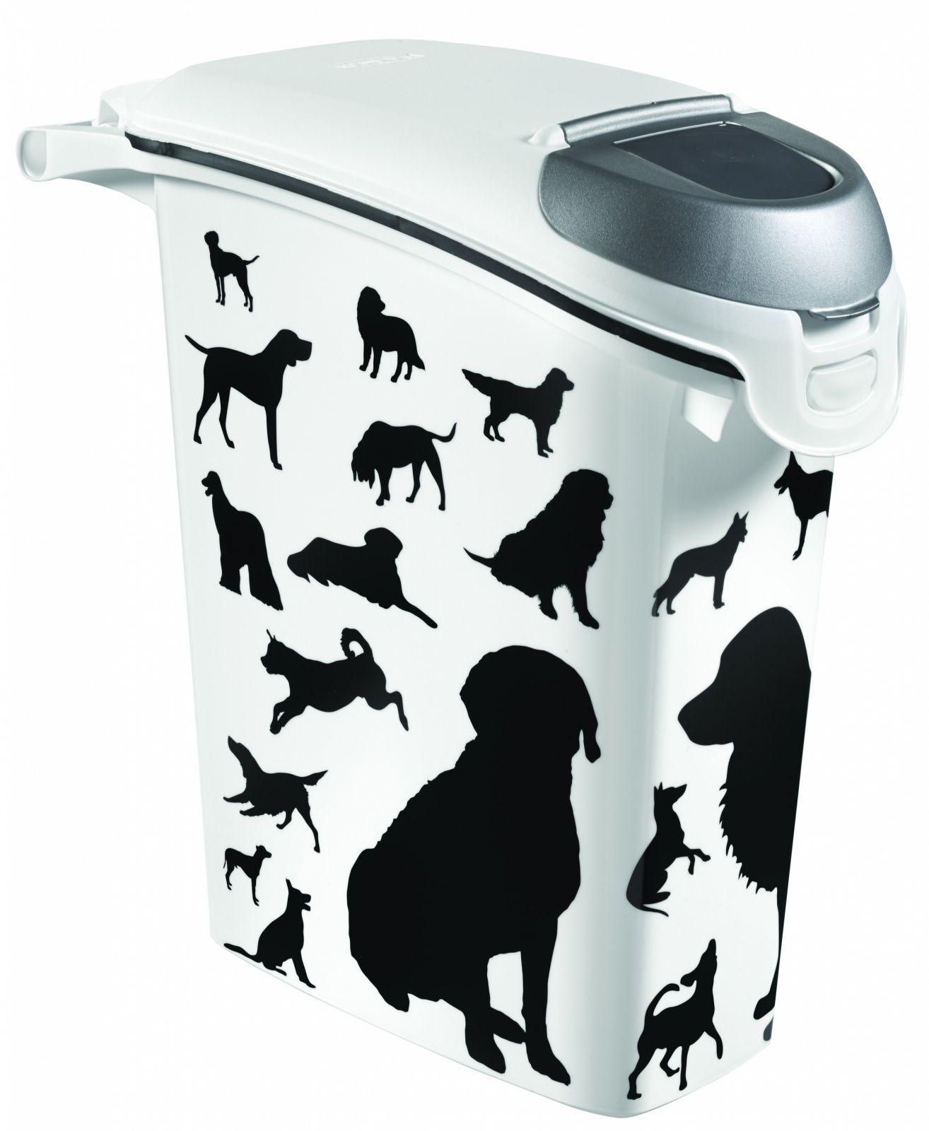 """Контейнер для корма """"Собаки"""", черно-белый, на 10кг/23л, 23*50*50см (210341) от Ravta"""