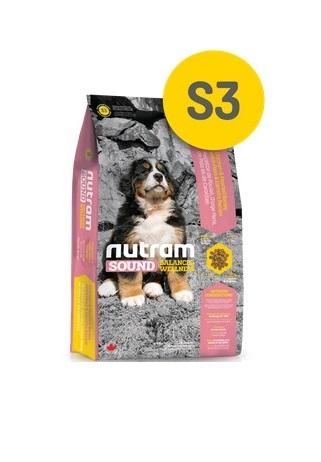 Корм Nutram S3 Large Breed Puppy WB, для щенков крупных пород (белый пакет), 20кг от Ravta