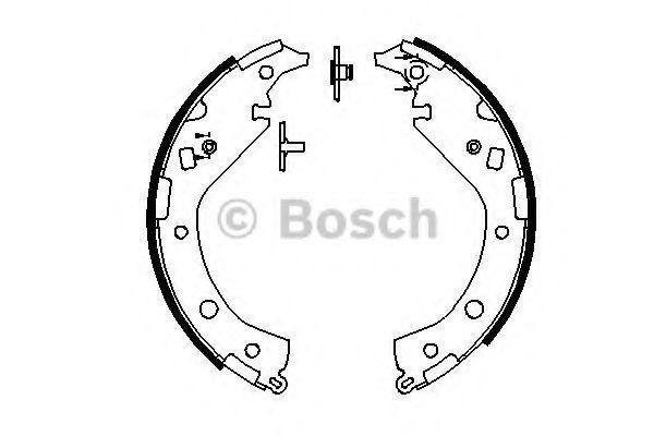 Тормозные колодки Bosch задние барабанные комплект Toyota RAV4 [0986487863] от Ravta