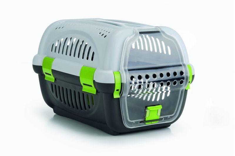 Переноска для транспортировки животных серо-зеленая 51*34,5*33смКлетки, вольеры, переноски<br><br><br>Артикул: 715010<br>Бренд: I.P.T.S.<br>Вид: Переноски<br>Высота упаковки (мм): 0,2<br>Длина упаковки (мм): 0,51<br>Ширина упаковки (мм): 0,36<br>Вес брутто (кг): 1,18<br>Страна-изготовитель: Китай<br>Для кого: Собаки