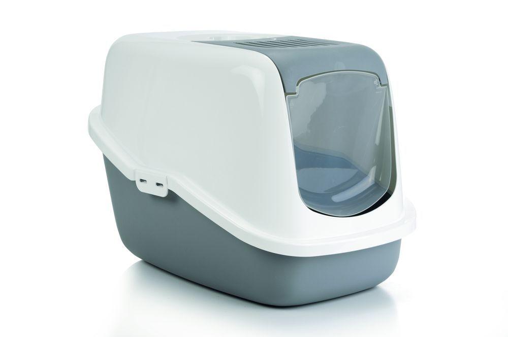 i.p.t.s. Туалет-домик для кошек Nestor серый 56*39*39см 400465