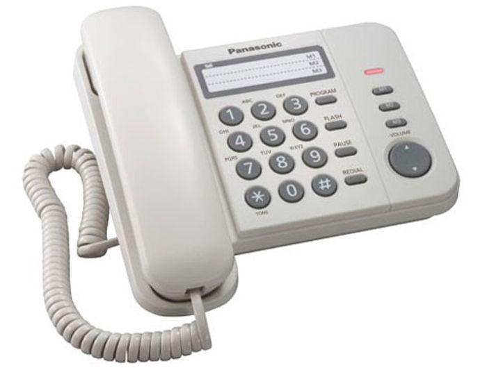 Телефон проводной Panasonic KX-TS2358 RU-W белый_АОН, Caller ID от Ravta