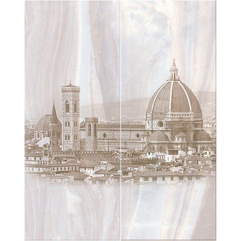 Керамическая плитка панно Azori Aliante Grey Fiore серый 505*402 (шт.) от Ravta