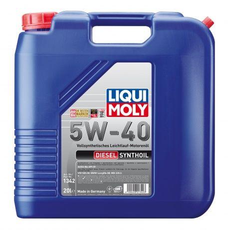 Масло Liqui Moly Diesel Synthoil 5W 40 (20л) от Ravta