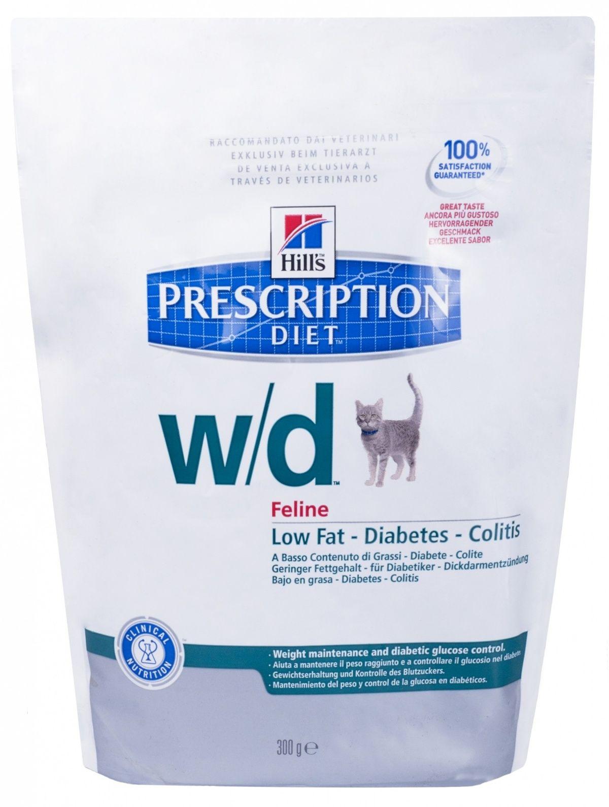 Диетический корм Hills W/D для Кошек: Лечение сахар. диабета, запоров, расстройств ЖКТ (Low Fat/Diabet), 1,5кгЛечебные корма<br><br><br>Высота упаковки (мм): 0,35<br>Длина упаковки (мм): 0,19<br>Ширина упаковки (мм): 0,07<br>Вес брутто (кг): 1,5<br>Артикул: 9191M<br>Бренд: Hills<br>Вид: Сухие<br>Страна-изготовитель: США<br>Вес упаковки (кг): 1,5<br>Размер/порода: Для всех пород<br>Для кого: Кошки<br>Особая серия: Облегчённый