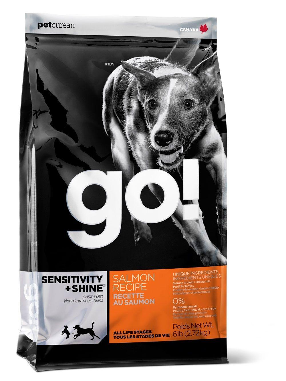 Корм GO! NATURAL для Щенков и Собак со свежим Лососем и овсянкой Sensitivity + Shine Salmon Dog Recipe 11,35кгПовседневные корма<br><br><br>Артикул: 10091<br>Бренд: GO! NATURAL Holistic<br>Вид: Сухие<br>Высота упаковки (мм): 0,11<br>Длина упаковки (мм): 0,65<br>Ширина упаковки (мм): 0,365<br>Вес брутто (кг): 11,35<br>Страна-изготовитель: Канада<br>Вес упаковки (кг): 11,35<br>Размер/порода: Все<br>Ингредиенты: Лосось<br>Для кого: Собаки
