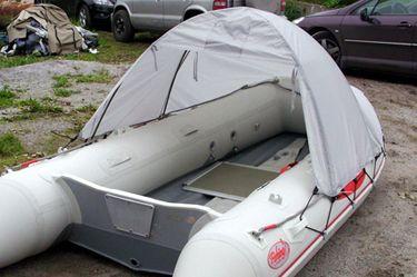 badger Тент-палатка для лодки (длина 240 / высота 120 см), Grey ТентSL360-390_grey