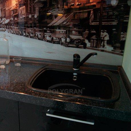Столешница для кухни черный мрамор