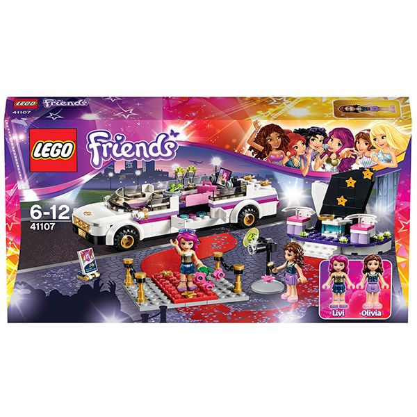Конструктор Лего Френдс (Lego Friends) Поп звезда: лимузин, Lego 41107Конструкторы<br><br><br>Артикул: 41107<br>Бренд: Lego<br>Категории: Лего Френдс / Lego Friends